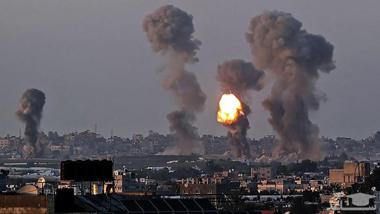 تصویر از (فیلم) شوکه شدن یک کودک فلسطینی از بمباران مهیب غزه