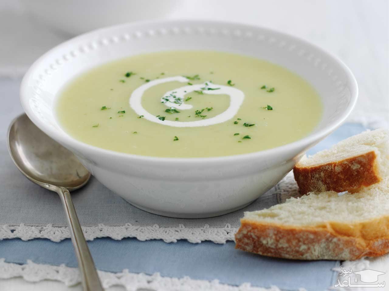 طرز تهیه سوپ تره فرنگی با قلم گوساله