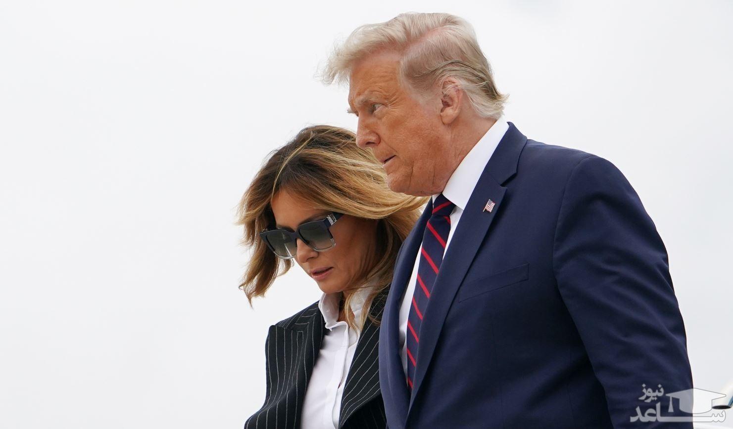 راز ترامپ و همسرش ملانیا لو رفت