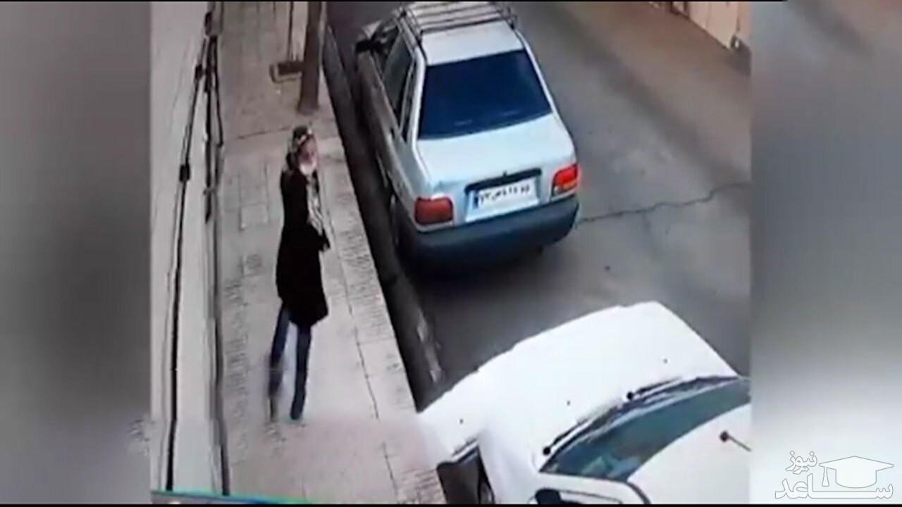 (فیلم) شگرد یک زن برای سرقت در جنوب تهران