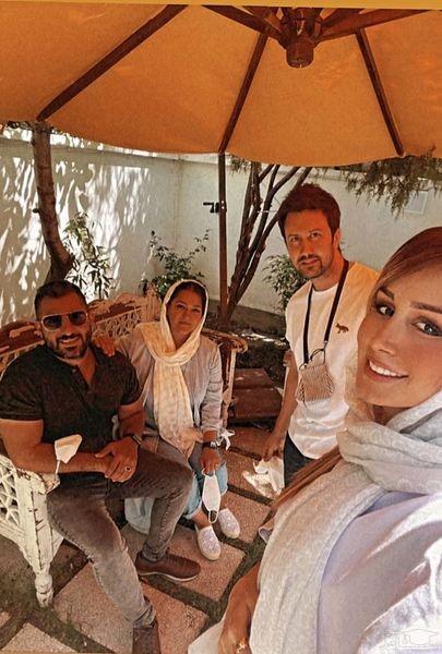 شاهرخ استخری و همسر و دوستانشان