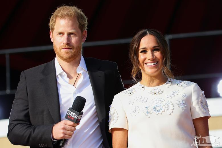 """حضور شاهزاده هری و همسرش """"مگان مارکل"""""""