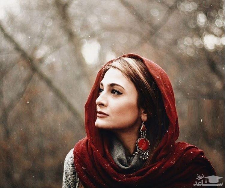عکس متفاوت پاییزی  آناهیتا دری، بازیگر زن معروف ایرانی