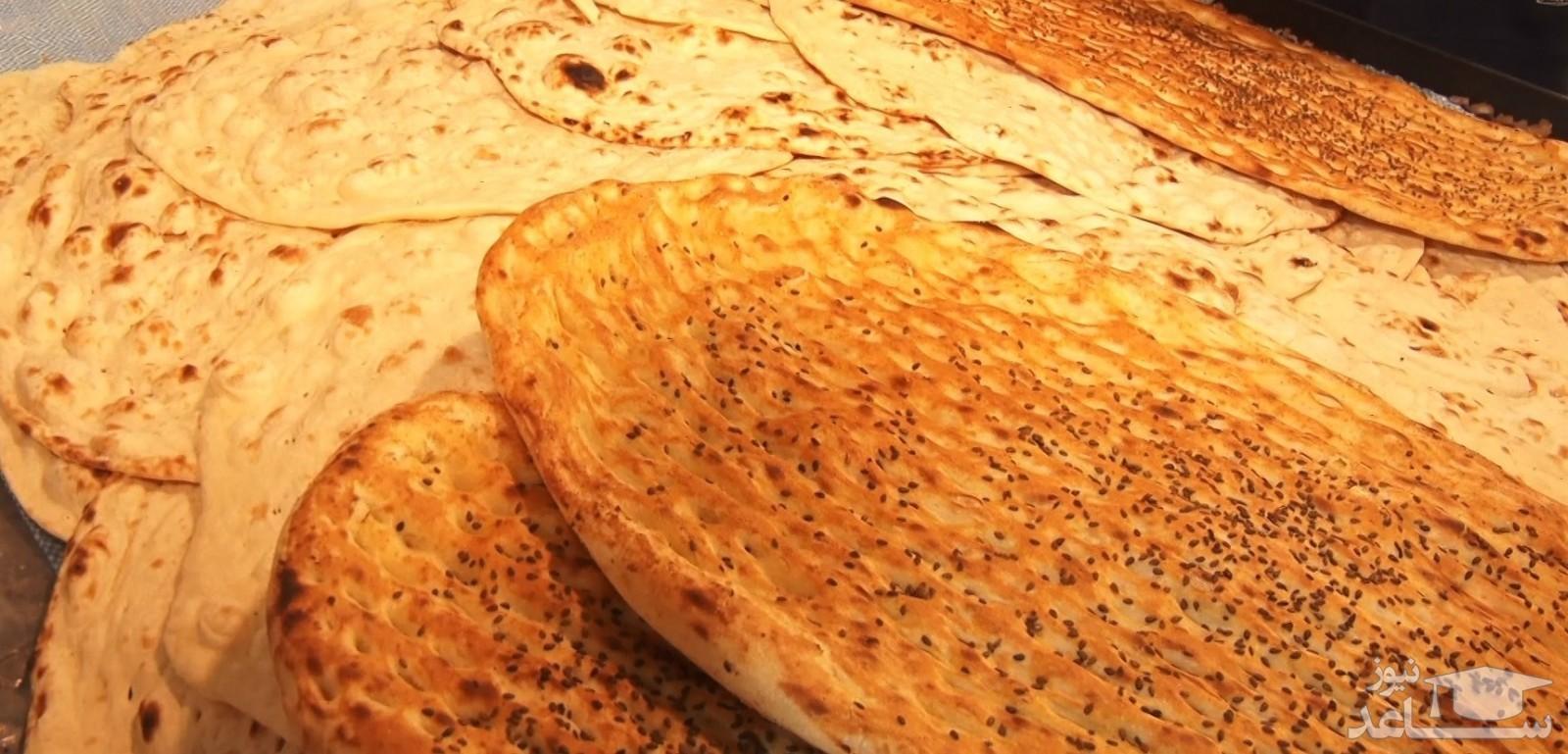 (عکس)  کار زیبای یک نانوایی در اهواز