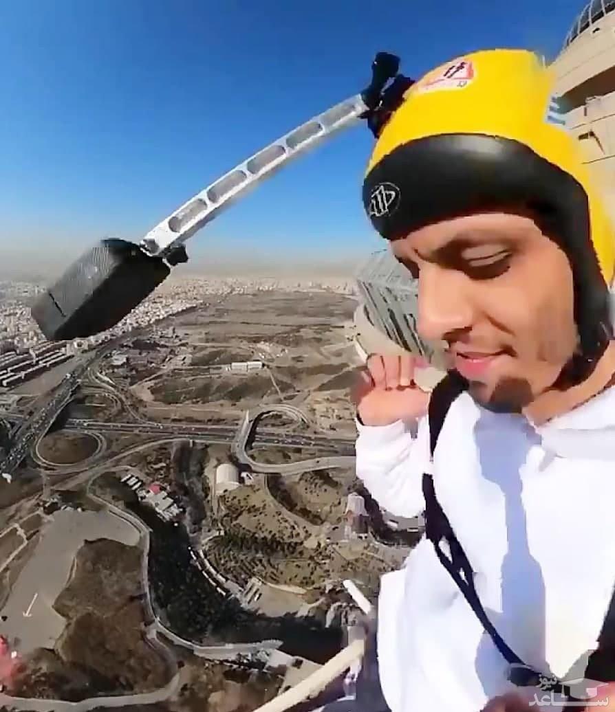 (فیلم) لحظه سقوط مرگبار «محمد بزرگی» هنگام پرش