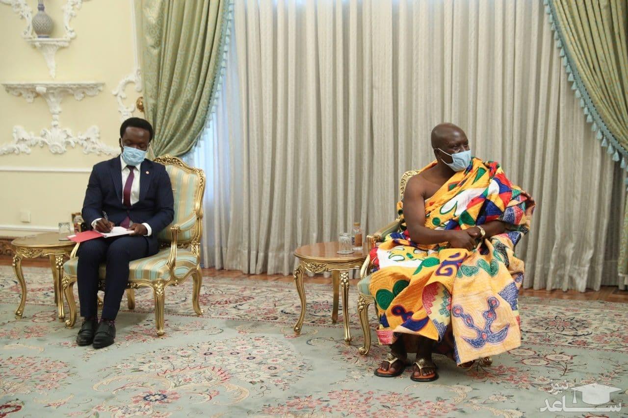 پوشش جالب و متفاوت سفیر جدید غنا در دیدار با روحانی