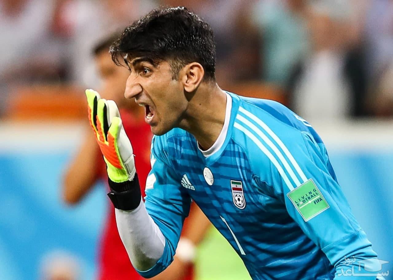 بیرانوند: میخواستم بازیکن عراق را خفه کنم!