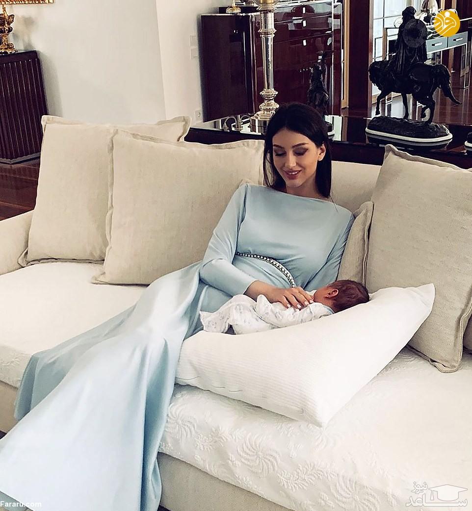 ملکه زیبایی روسیه که از پادشاه مالزی بچهدار شد