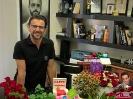 (فیلم) سوپرایز تولد 49 سالگی امین حیایی