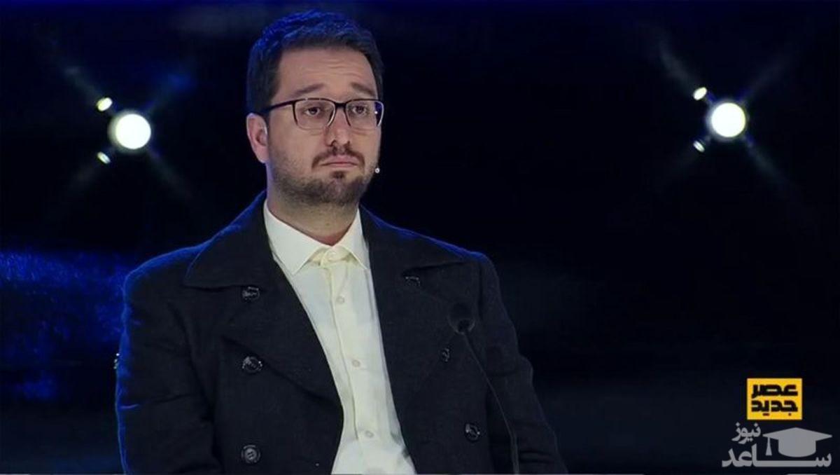 (فیلم)شوخی جالب احسان علیخانی با سید بشیر حسینی در برنامه عصرجدید