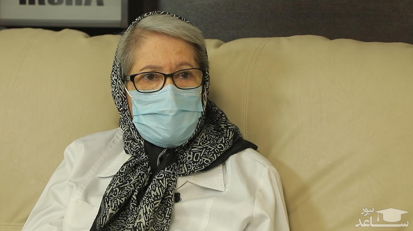 (فیلم) مینو محرز: تزریق واکسن، از کرونا جلوگیری نمی کند