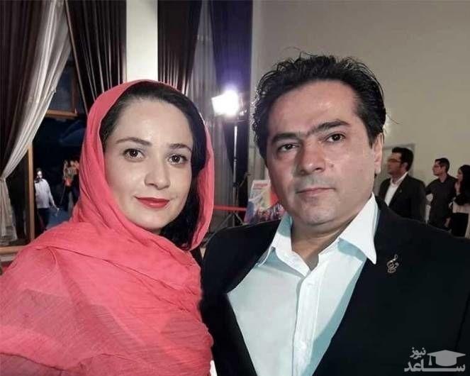 نسرین نصرتی بازیگر نقش فهیمه پایتخت در کنار همسر واقعی و دخترش