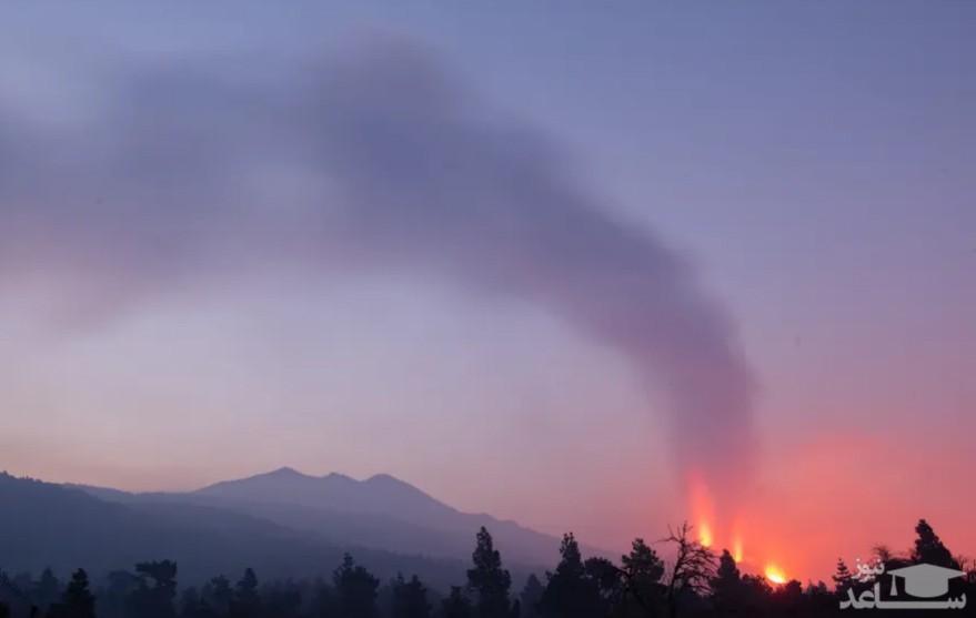آتشفشان در جزیره لاپالما اسپانیا/ EPA