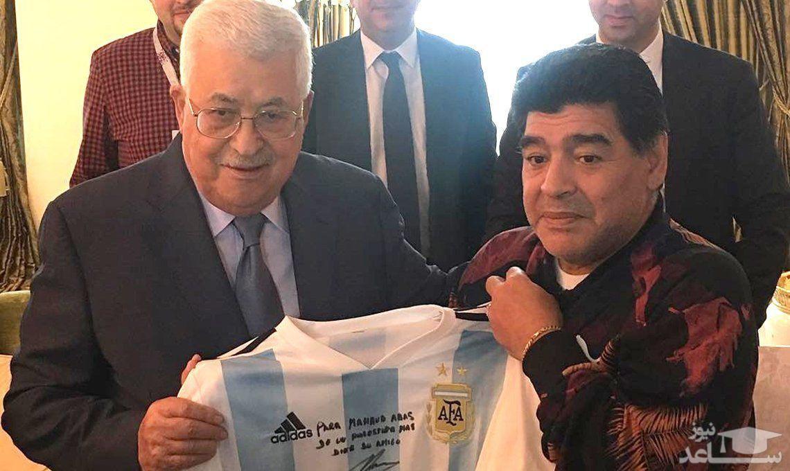 """دیگو مارادونا: """"من در قلبم یک فلسطینی هستم"""""""
