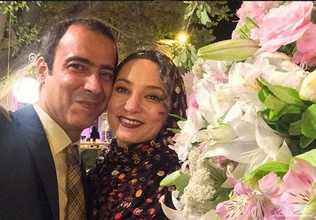 سحر ولدبیگی و همسرش در باغ کوچک خانه شان