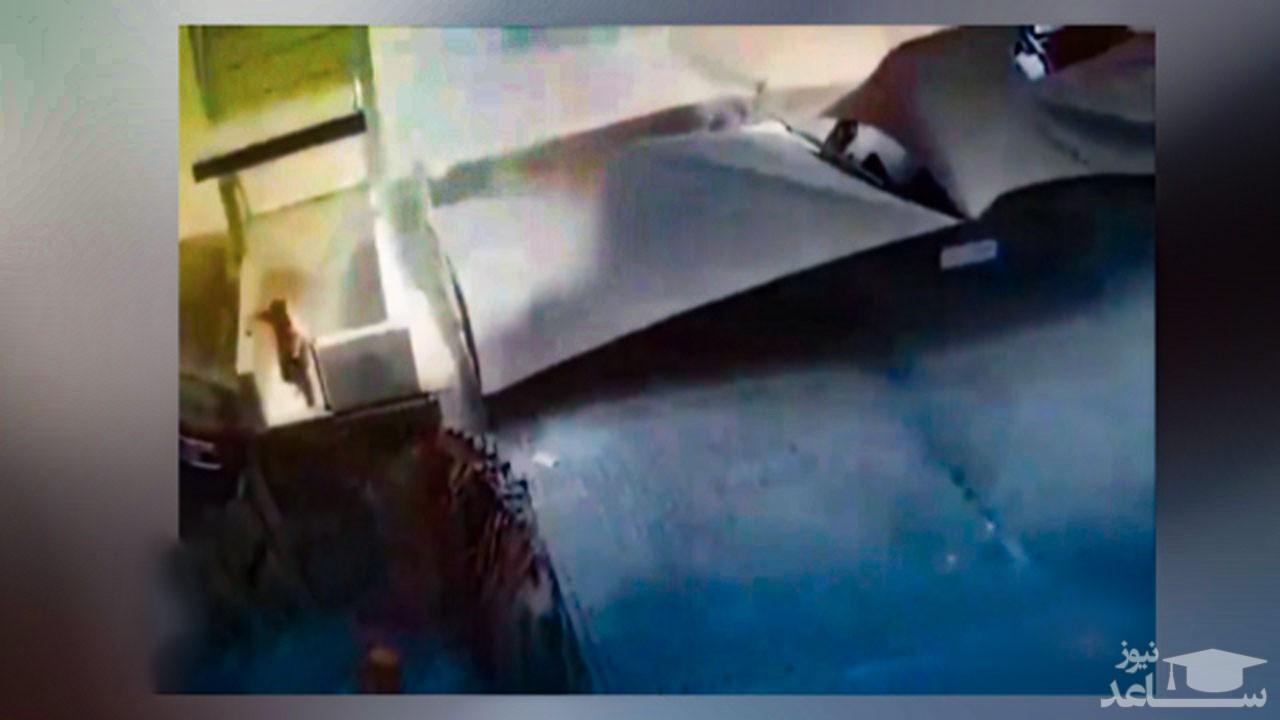 (فیلم) نجات حیرت آور یک مرد از حادثه رانش زمین