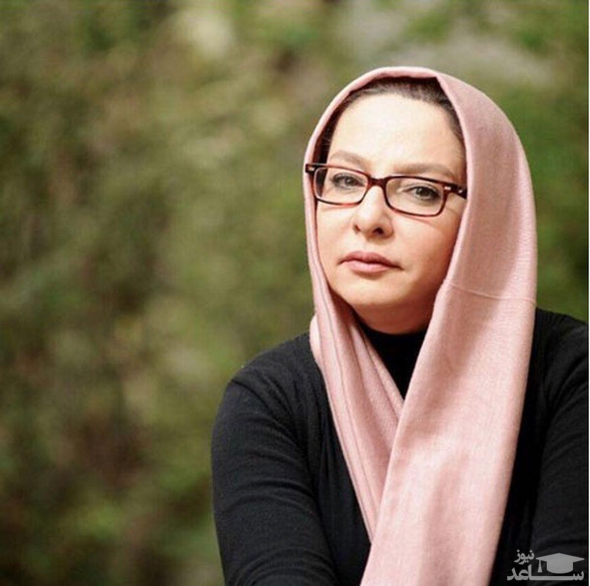 لاله صبوری در کنار جمشید هاشم پور