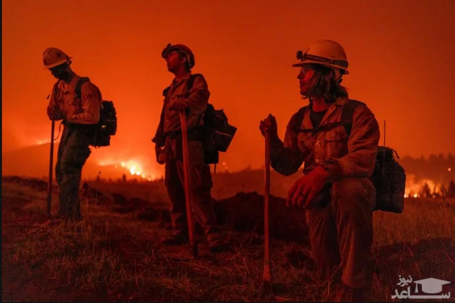 آتش سوزی گسترده جنگلی در ایالت کالیفرنیا