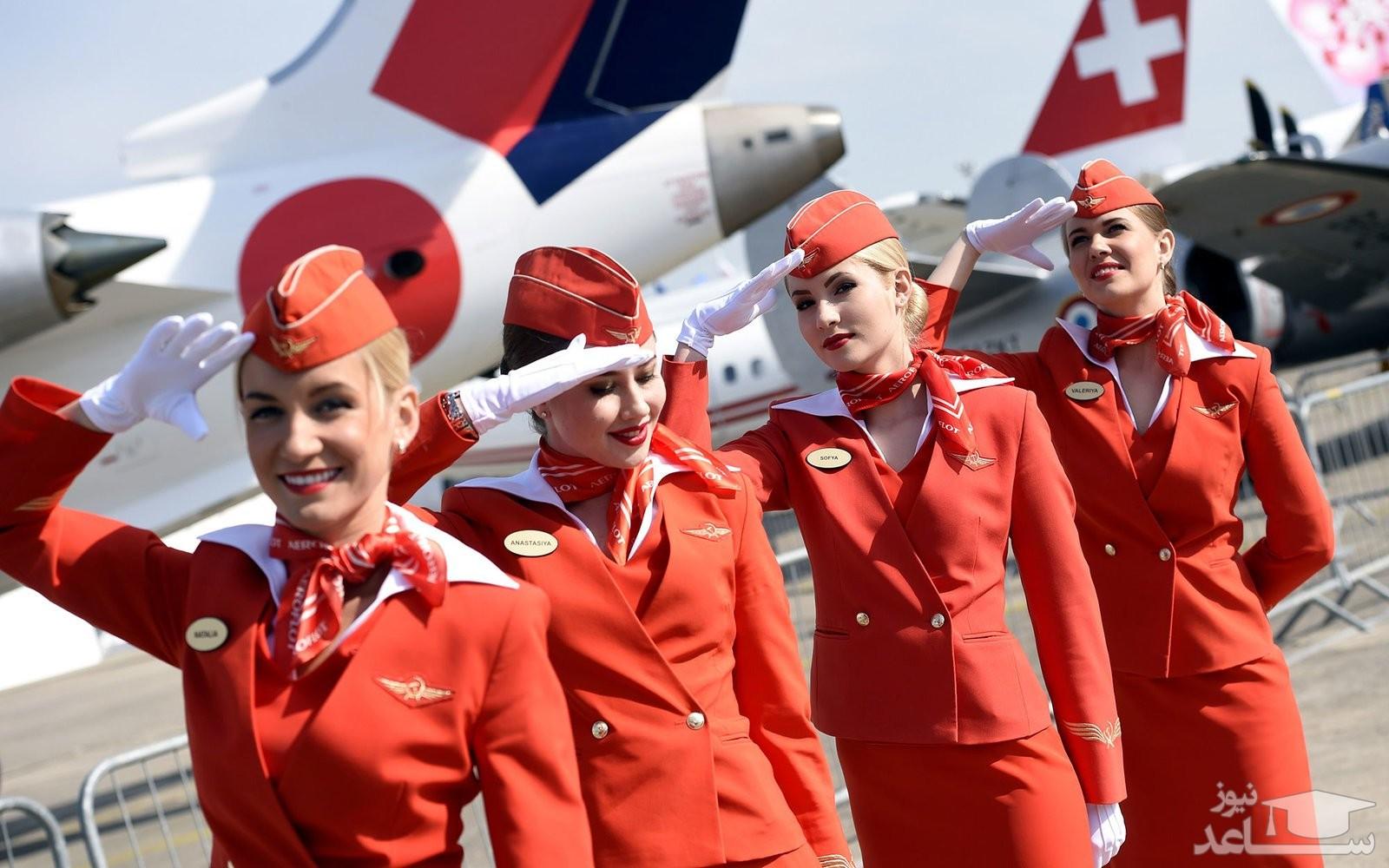 تمرینات جالب و تعجب آور مهمانداران هواپیما