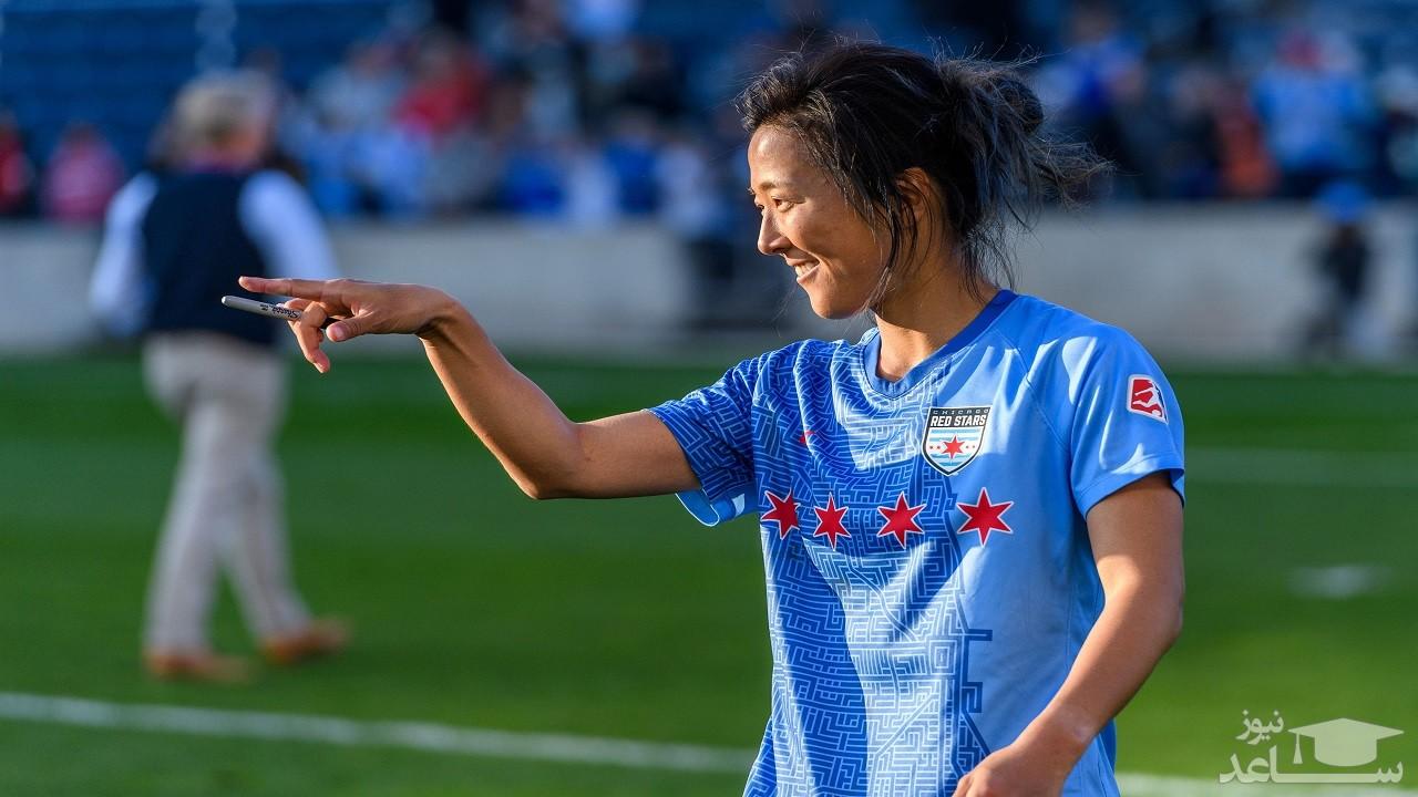 اتفاق عجیب در دنیای فوتبال/ حضور یک زن در تیم آقایان