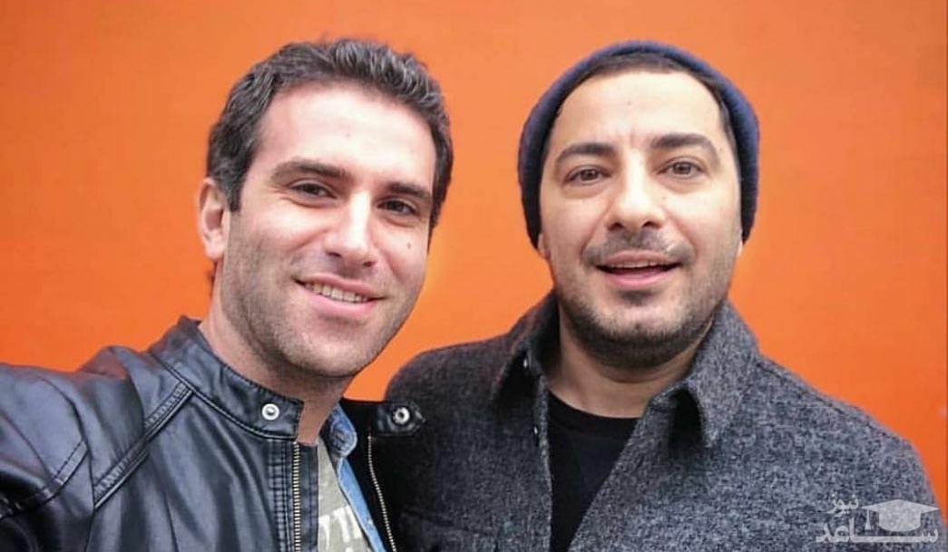 عکس زیرخاکی از رفاقت قدیمی نوید محمدزاده و هوتن شکیبا
