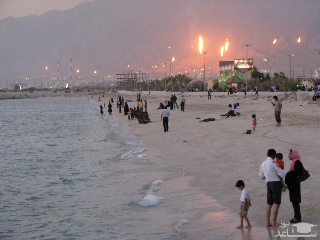 (عکس) سکوت در ساحل زیبای عسلویه