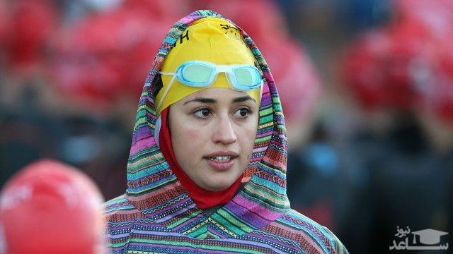 لباس شنای خاص دختر ایرانی در مسابقات جهانی سهگانه+ عکس