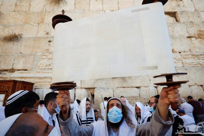 """برگزاری آیین های عید یهودی """"سوکوت"""" در شهر قدس/ رویترز"""