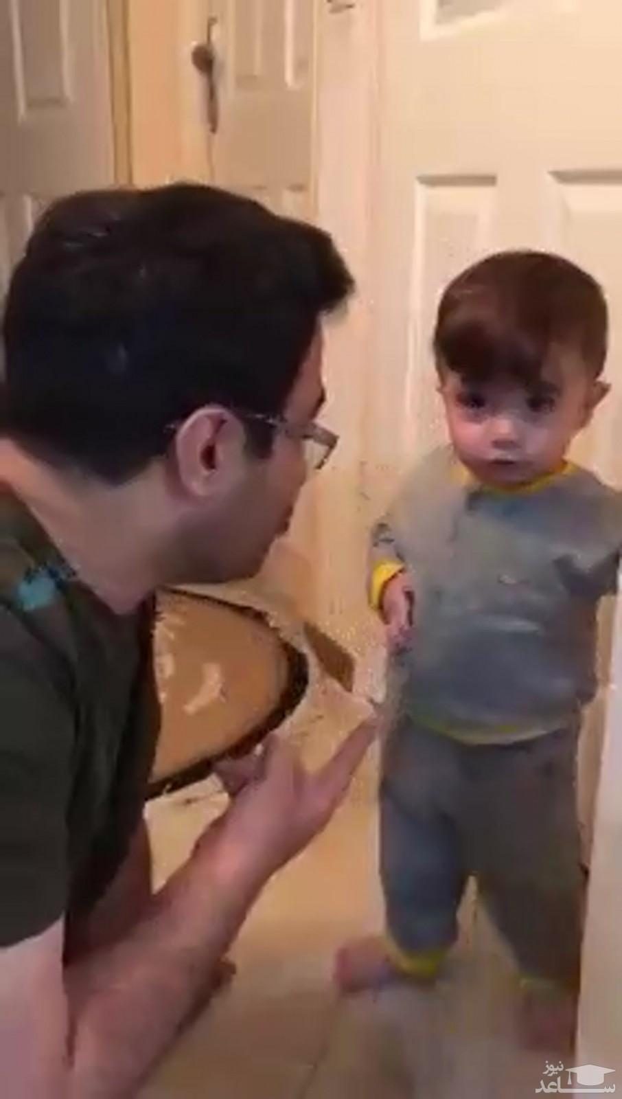 ویدئوی پربازدید از دست و پا شکسته حرف زدن یک کودک!