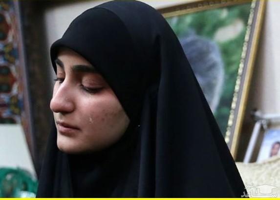دلتنگی دختر شهید سلیمانی برای پدرش