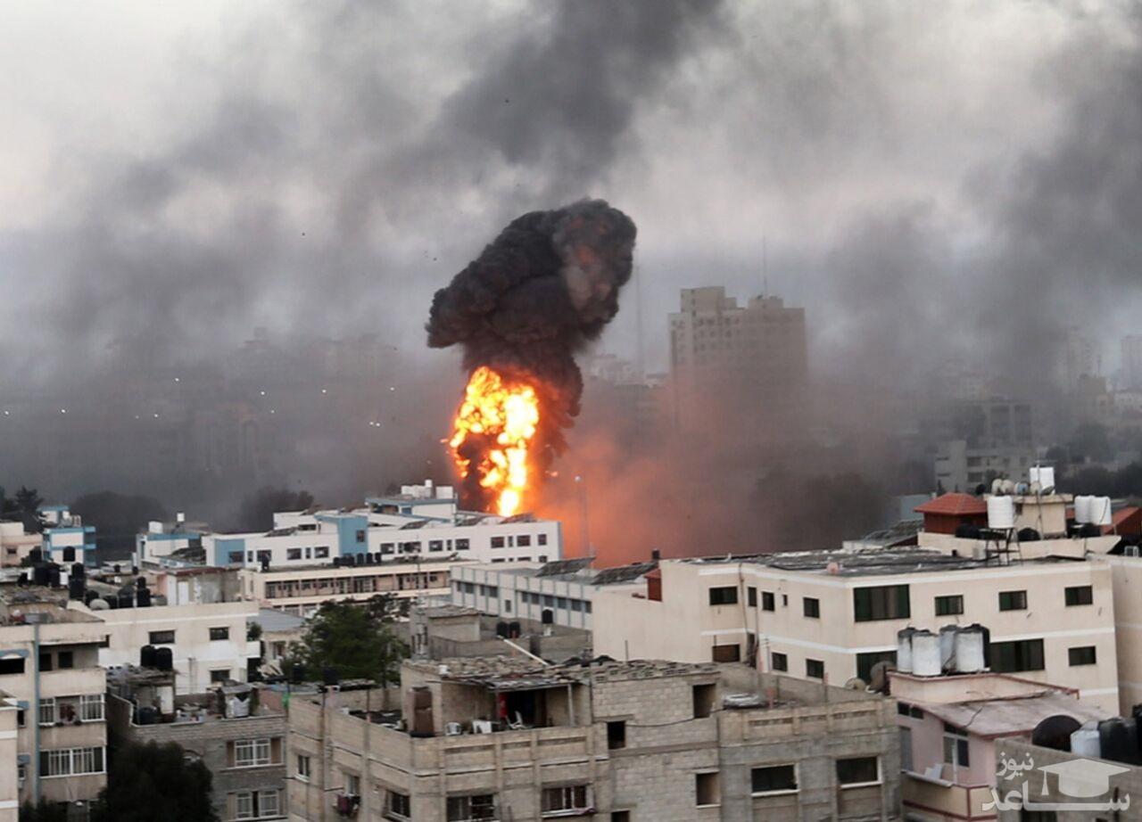 برخورد موشکهای مقاومت به نقاط مختلف اسرائیل + فیلم