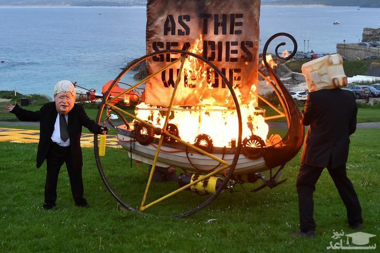 اجلاس رهبران 7 کشور صنعتی جهان (جی هفت) در بریتانیا و حواشی و اعتراضات علیه آن/ رویترز