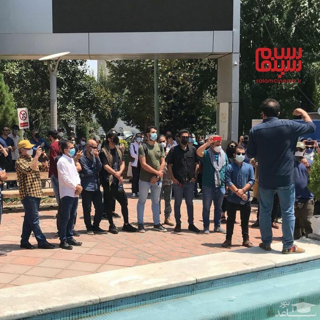 تجمع جمعی از هنرمندان سینما و تلویزیون در حمایت از خوزستان