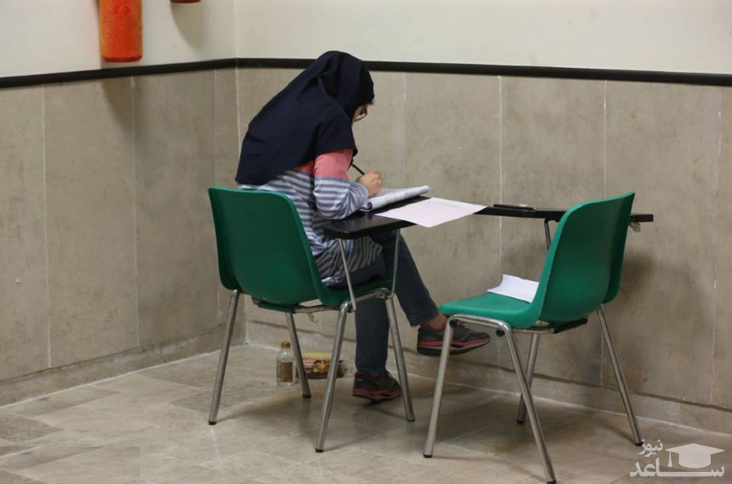 داوطلبان دارای علائم بیماری در مکان جدا آزمون دکتری می دهند