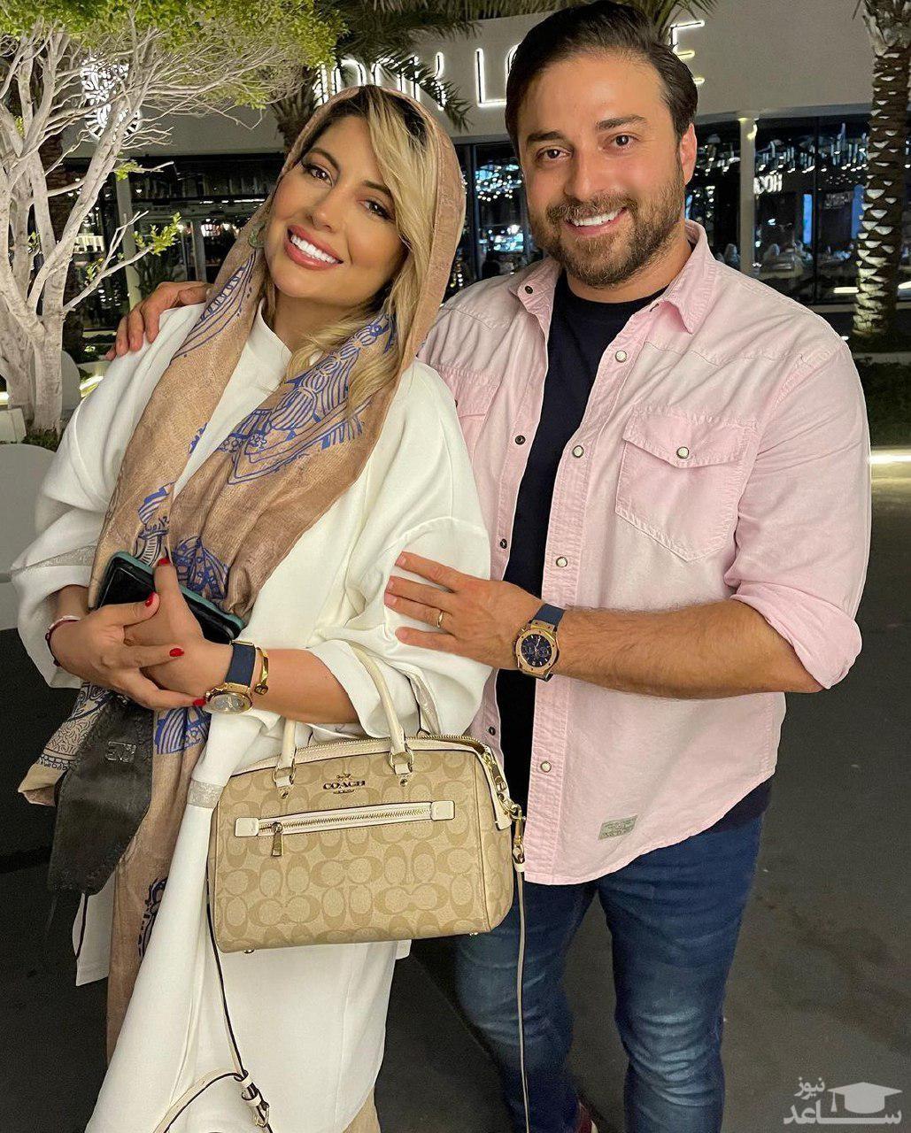 عاشقانه های بابک جهانبخش و همسرش