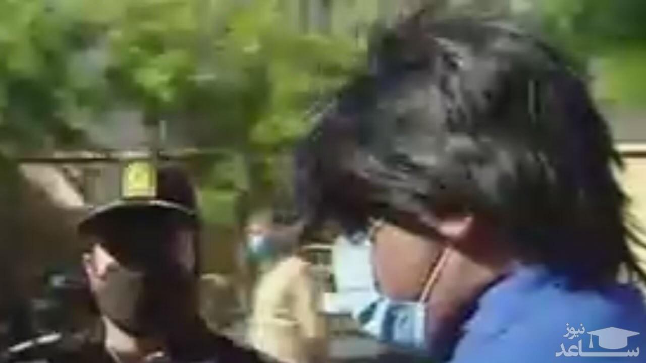 (فیلم) دستگیر شدن سارقی که از خواهر خودش زورگیری کرده بود!