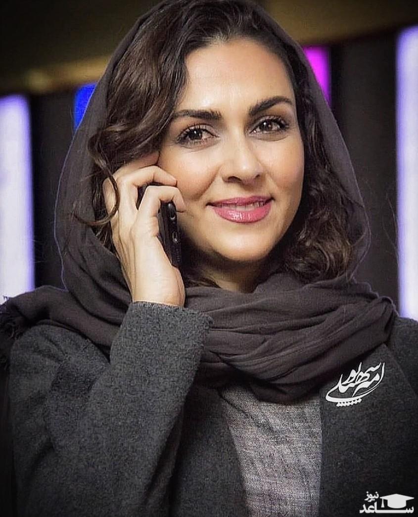 پوشش و حجاب متفاوت شیوا ابراهیمی با آرایش غلیظ
