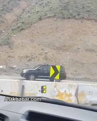 (فیلم) روش عجیب یک راننده برای رسیدن به لواسان!