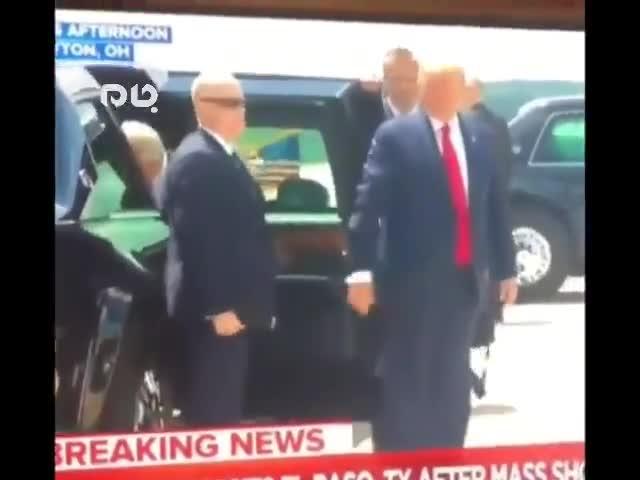 (فیلم) ترامپ به سبک حیوان خانگی ملانیا را صدا کرد!