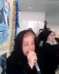 خوانندگی و رقص خانمها در یک ستاد انتخاباتی