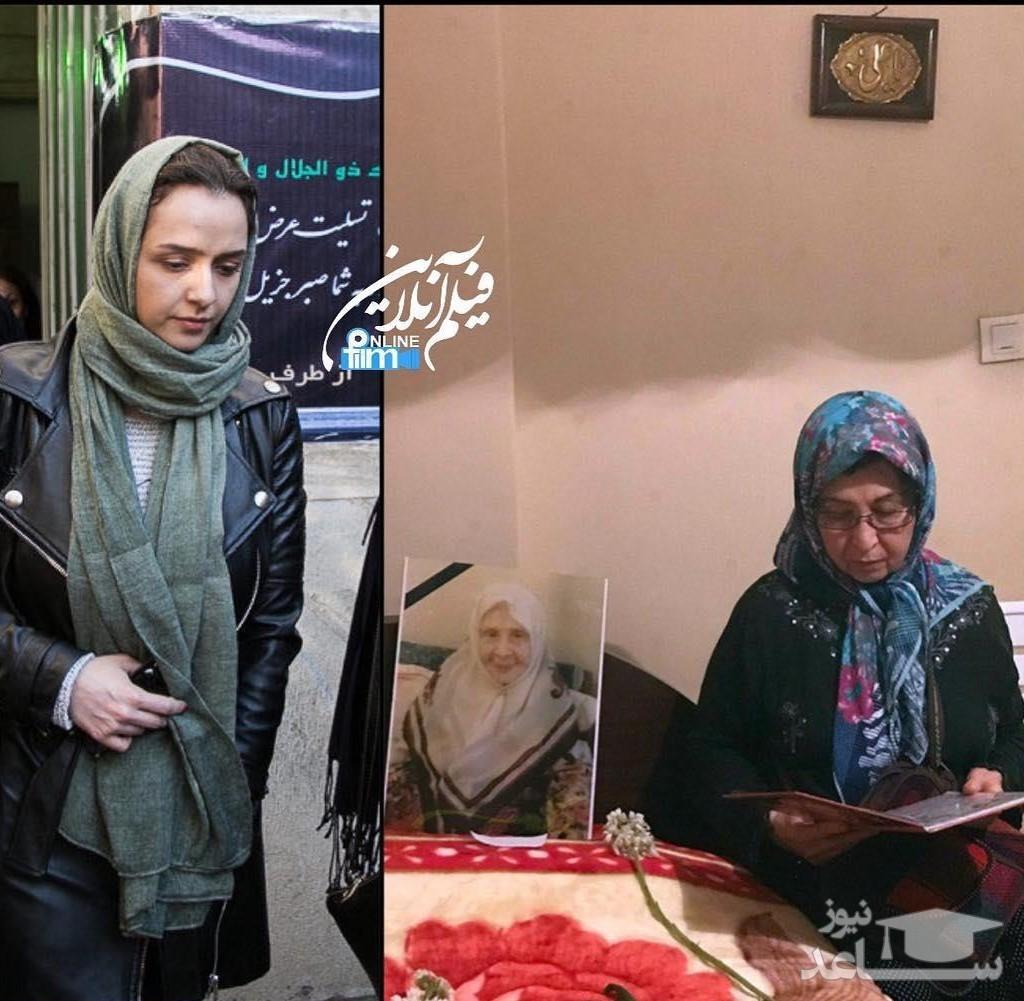 حضور ترانه علی دوستی در مراسم ختم مادر زهرا رهنورد