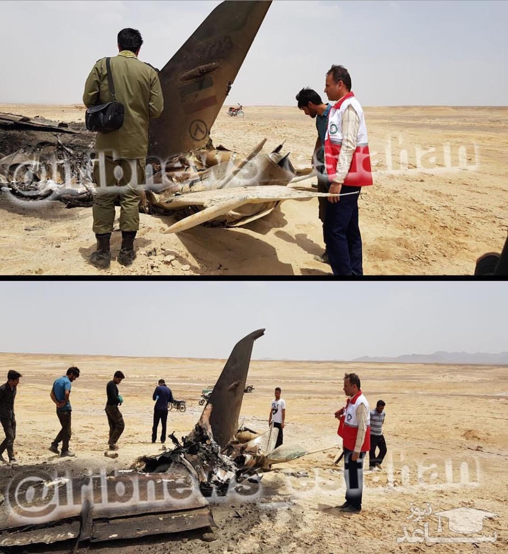 سقوط جنگنده ارتش در اصفهان