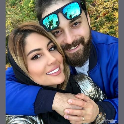 عاشقانه های بابک جهانبخش و همسرش در کیش