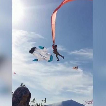 حادثه در جشنواره بادبادک های تایوان: پرواز کودک 3 ساله بر فراز آسمان!