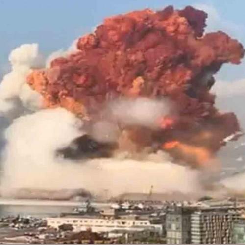 (فیلم) انفجار مهیب در بیروت از چند زاویه مختلف