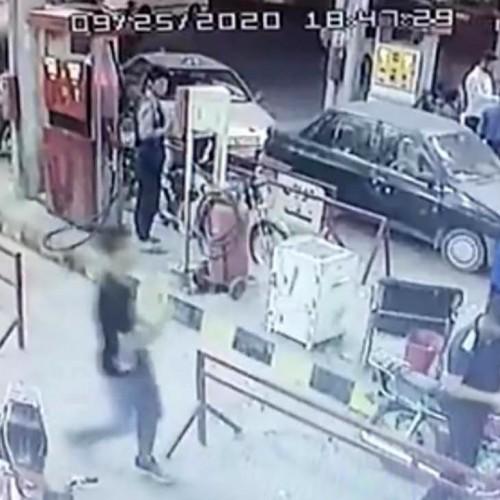 (فیلم)انفجار مرگبار پمپ بنزین در قزوین