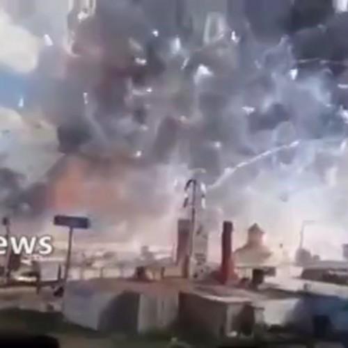 (فیلم) انفجار شدید در کارخانه فشفشه سازی در ترکیه