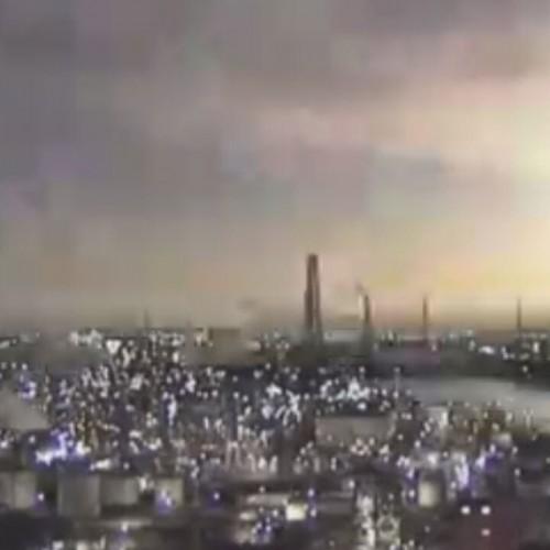 (فیلم) انفجار ترسناک یک جسم نورانی در آسمان ژاپن
