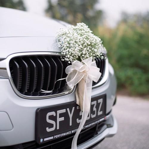 اتفاق جالب پس از خراب شدن ماشین عروس در جاده!