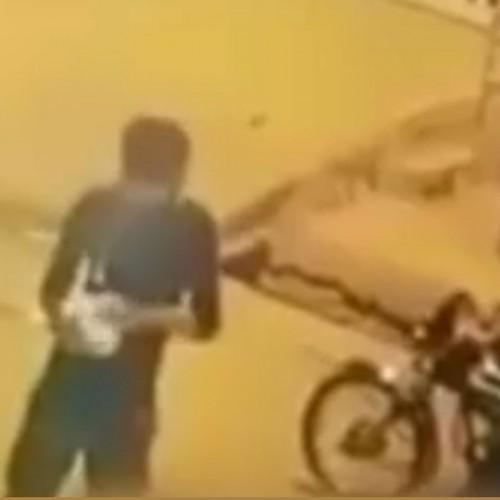 (فیلم) آتش زدن تریلی در اهواز